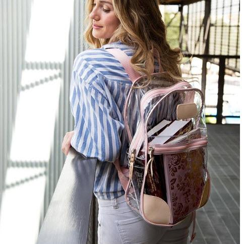 Jon Hart Designs Clear Backpack  Luggage & Bags > Backpacks