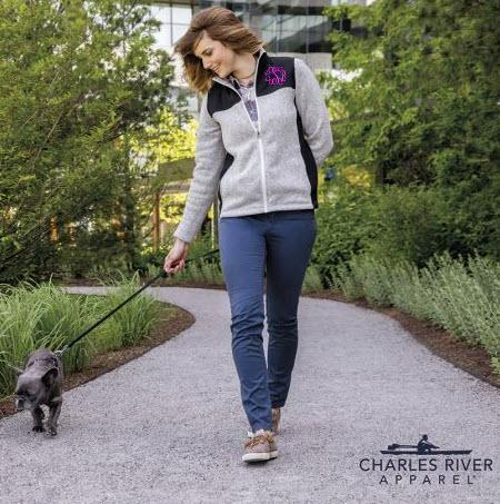 Monogrammed Women's Charles River Concord Jacket  Apparel & Accessories > Clothing > Outerwear > Coats & Jackets > Fleece Jackets