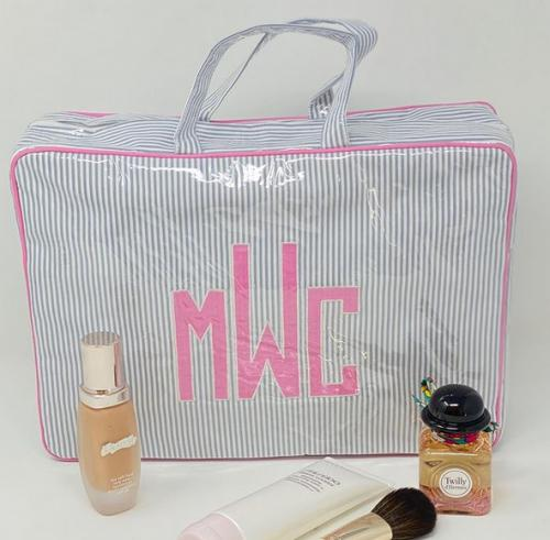 Monogrammed Helen Handled Zip Cosmetic Cases Choice of 3 Sizes  Luggage & Bags > Toiletry Bags