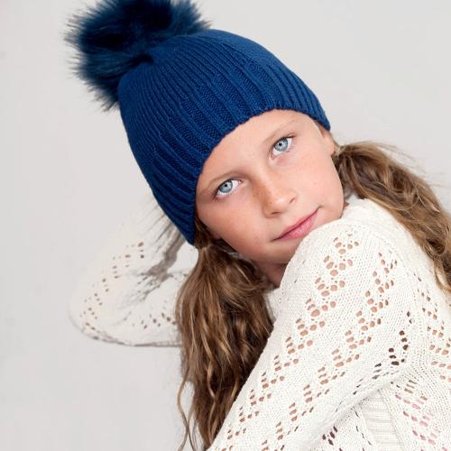 Personalized Navy Blue Childs Bella Hat  Apparel & Accessories > Clothing Accessories > Hats