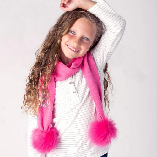 Personalized Hot Pink Childs Bella Scarf  Apparel & Accessories > Clothing Accessories > Scarves & Shawls