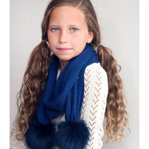 Personalized Navy Blue Childs Bella Scarf  Apparel & Accessories > Clothing Accessories > Scarves & Shawls