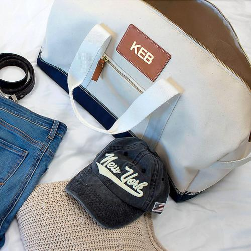 Boulevard Canvas Dakota Duffel Bag Monogrammed  Luggage & Bags > Duffel Bags