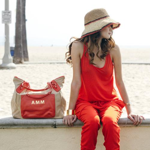 Boulevard Canvas and Leather Sunday Tote  Apparel & Accessories > Handbags > Tote Handbags