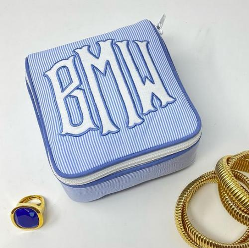 "Monogrammed Single Andrea Jewelry Case 5"" by 5"" by 2.5""h  Luggage & Bags > Toiletry Bags"
