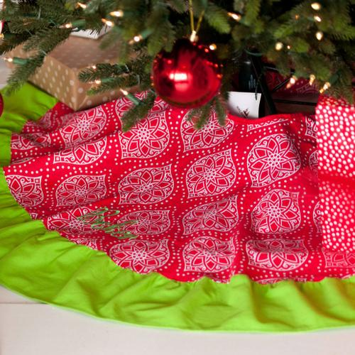 Personalized Noel Tree Skirt  Home & Garden > Decor > Seasonal & Holiday Decorations > Christmas Tree Skirts