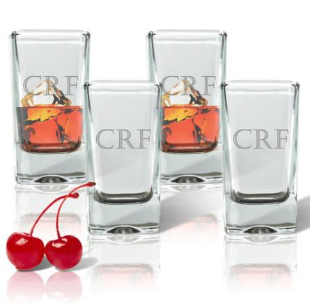 Shot Glasses Personalized Set of 4  Home & Garden > Kitchen & Dining > Tableware > Drinkware > Shot Glasses