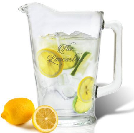 Pitcher Personalized Glass  Home & Garden > Kitchen & Dining > Tableware > Drinkware