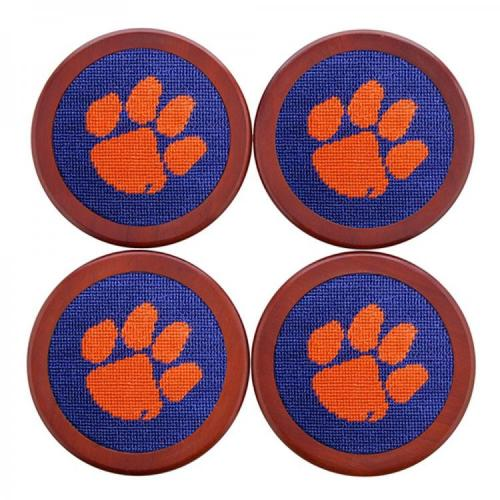 Smathers and Branson Clemson Needlepoint Coaster Set Smathers and Branson Clemson Needlepoint Coaster Set Home & Garden > Kitchen & Dining > Barware > Coasters