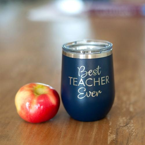 Best Teacher Stainless Steel Tumbler with Lid  Home & Garden > Kitchen & Dining > Tableware > Drinkware > Tumblers