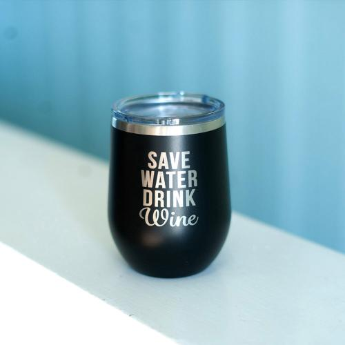 Save Water Stainless Steel Tumbler with Lid  Home & Garden > Kitchen & Dining > Tableware > Drinkware > Tumblers