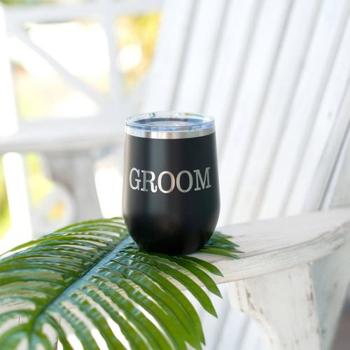 Groom Stainless Steel Tumbler with Lid Groom Stainless Steel Tumbler with Lid Home & Garden > Kitchen & Dining > Tableware > Drinkware > Tumblers