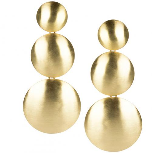 Lisi Lerch Greta Brushed Gold Earrings  Apparel & Accessories > Jewelry > Earrings