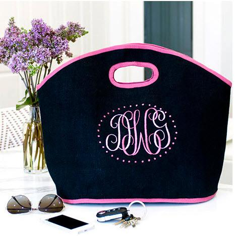 Monogrammed Erin Tote  Apparel & Accessories > Handbags > Tote Handbags