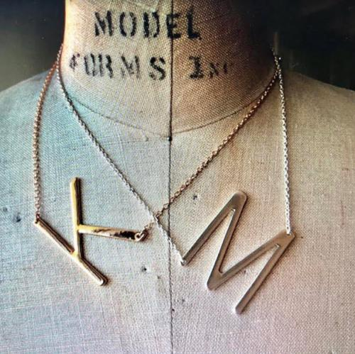 Large Initial Necklace  Apparel & Accessories > Jewelry > Necklaces