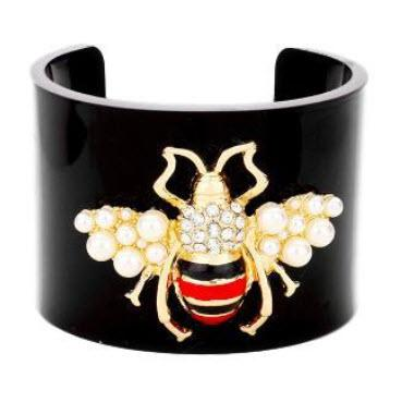 Queen Bee Black Lucite Cuff Queen Bee Black Lucite Cuff Apparel & Accessories > Jewelry > Bracelets