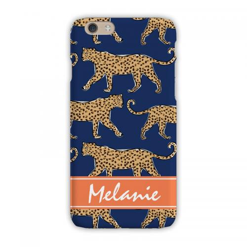 Personalized Clairebella Leopard Navy iPhone Case  Electronics > Communications > Telephony > Mobile Phone Accessories > Mobile Phone Cases