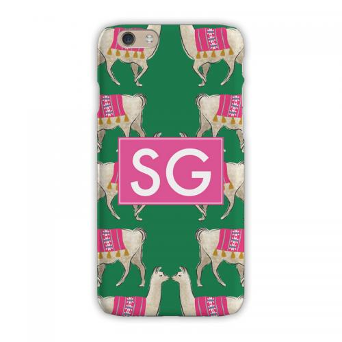 Personalized Clairebella Llama Green iPhone Case  Electronics > Communications > Telephony > Mobile Phone Accessories > Mobile Phone Cases