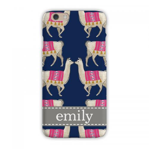 Personalized Clairebella Llama Navy Phone Case  Electronics > Communications > Telephony > Mobile Phone Accessories > Mobile Phone Cases