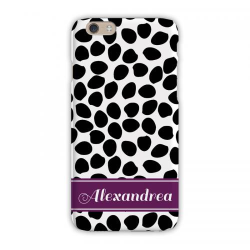 Personalized Clairebella Organic Dots Black iPhone Case  Electronics > Communications > Telephony > Mobile Phone Accessories > Mobile Phone Cases