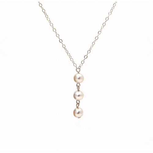 Cultured Pearl Trinity Necklace  Apparel & Accessories > Jewelry > Earrings