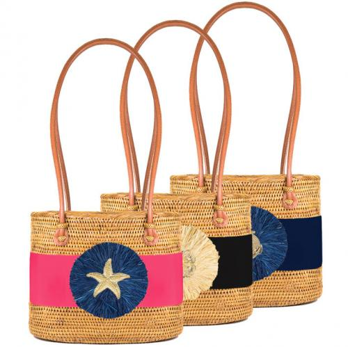 Lisi Lerch Charlotte Medium Raffia Bag  Apparel & Accessories > Handbags > Shoulder Bags