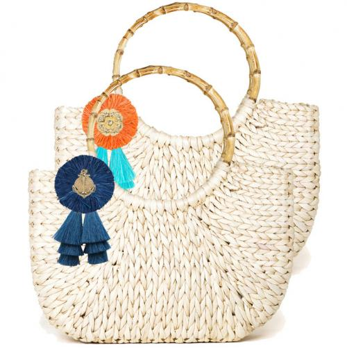 Lisi Lerch Half Moon Bag Large Raffia  Apparel & Accessories > Handbags > Tote Handbags