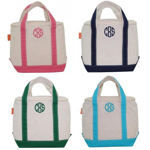 Monogrammed Canvas Small Lunch Tote Cooler  Home & Garden > Kitchen & Dining > Food & Beverage Carriers > Lunch Boxes & Totes