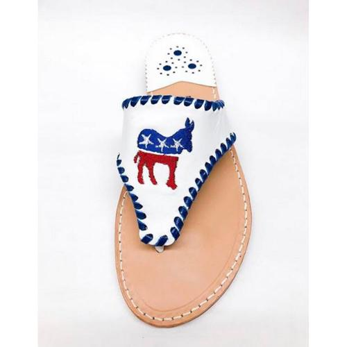 Palm Beach Democratic Donkey Sandals  Apparel & Accessories > Shoes > Sandals > Thongs & Flip-Flops