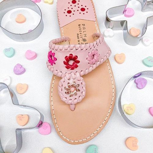 Palm Beach Sandals Classic Pink Multi  Apparel & Accessories > Shoes > Sandals > Thongs & Flip-Flops