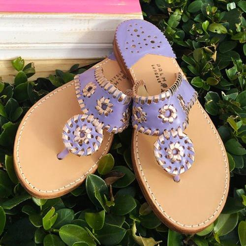 Palm Beach Sandals Classic Violet and Rose Gold  Apparel & Accessories > Shoes > Sandals > Thongs & Flip-Flops