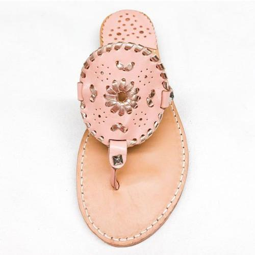 Palm Beach Sandals Ocean Avenue Blush and Rose Gold  Apparel & Accessories > Shoes > Sandals > Thongs & Flip-Flops