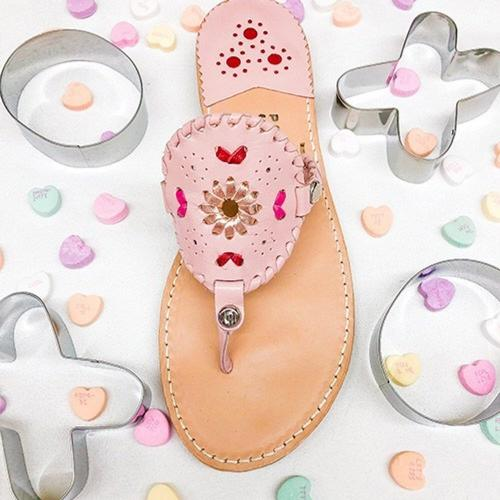 Palm Beach Sandals Ocean Avenue Pink Multi  Apparel & Accessories > Shoes > Sandals > Thongs & Flip-Flops