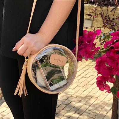 Jon Hart Designs Clear Luna Crossbody  Apparel & Accessories > Handbags > Cross-Body Handbags