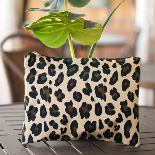 Monogrammed Leopard Wild Side Zip Pouch  Luggage & Bags > Luggage Accessories > Travel Pouches
