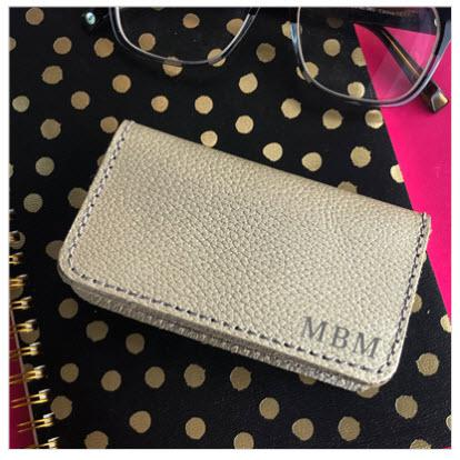 Jon Hart Monogrammed Card Case  Apparel & Accessories > Handbags, Wallets & Cases