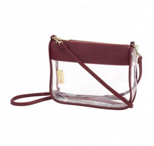 Clear Garnet Addison Crossbody Purse  Apparel & Accessories > Handbags > Cross-Body Handbags