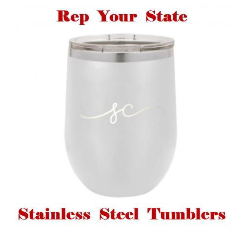 Rep Your State Stainless Steel Tumblers  Home & Garden > Kitchen & Dining > Tableware > Drinkware > Tumblers