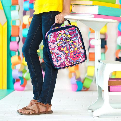 Monogrammed Ellison Paisley Print Lunch Box  Home & Garden > Kitchen & Dining > Food & Beverage Carriers > Lunch Boxes & Totes