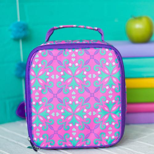Monogrammed Lila Tile Print Lunch Box  Home & Garden > Kitchen & Dining > Food & Beverage Carriers > Lunch Boxes & Totes