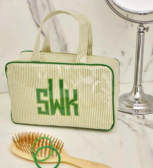 Monogrammed Small Handled Cosmetic Case  Luggage & Bags > Toiletry Bags