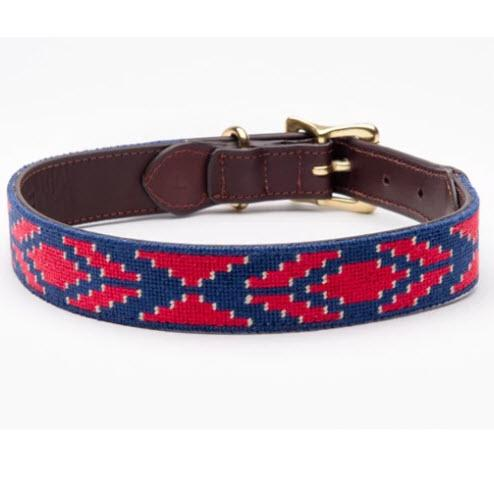 Caballo Needlepoint Dog Collar  Animals & Pet Supplies > Pet Supplies > Cat Supplies > Cat Collars & Harnesses