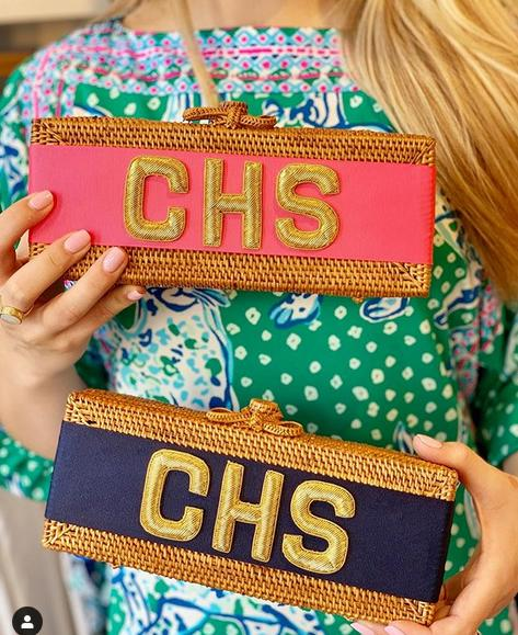 Monogrammed Colette Clutch  Apparel & Accessories > Handbags > Clutches & Special Occasion Bags