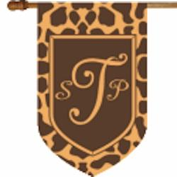 Monogrammed Giraffe House Flag Monogrammed Giraffe Print Flag 3 letters Home & Garden > Decor > Flags & Windsocks