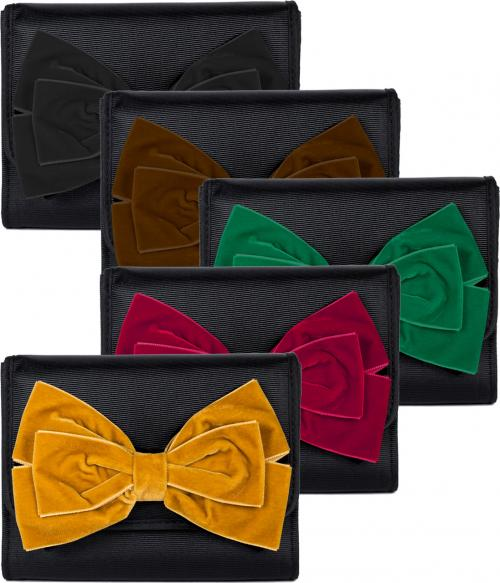 Lisi Lerch Eleanor Clutch with Velvet Bow  Apparel & Accessories > Handbags > Clutches & Special Occasion Bags