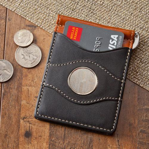 Monogrammed Two-Toned Leather Wallet Monogrammed Two-Toned Leather Wallet Apparel & Accessories > Clothing Accessories > Wallets & Money Clips