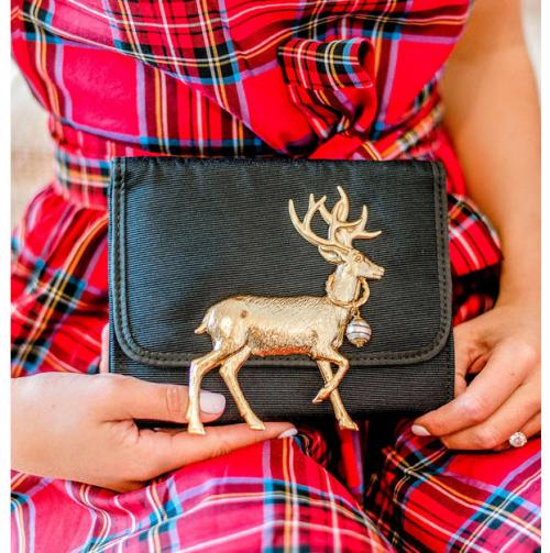 Lisi Lerch Eleanor Reindeer Adornment Clutch Lisi Lerch Eleanor Reindeer Adornment Clutch Apparel & Accessories > Handbags > Clutches & Special Occasion Bags