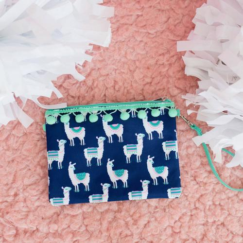 Personalized Lulu Llama Wristlet Pouch  Apparel & Accessories > Handbags > Wristlets