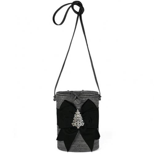 Lisi Lerch Julie Black Bow and Rhinestone Tree Lisi Lerch Julie Black Bow and Rhinestone Tree Apparel & Accessories > Handbags > Shoulder Bags