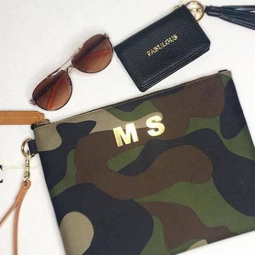 Boulevard Naomi Camo Canvas Clutch  Apparel & Accessories > Handbags > Clutches & Special Occasion Bags
